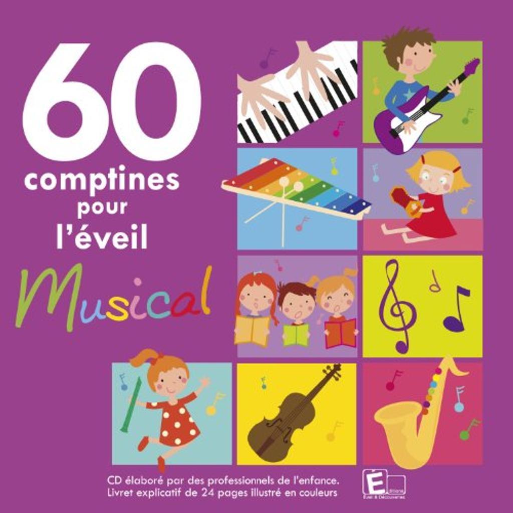 60 comptines pour l'éveil musical : pour les petits |